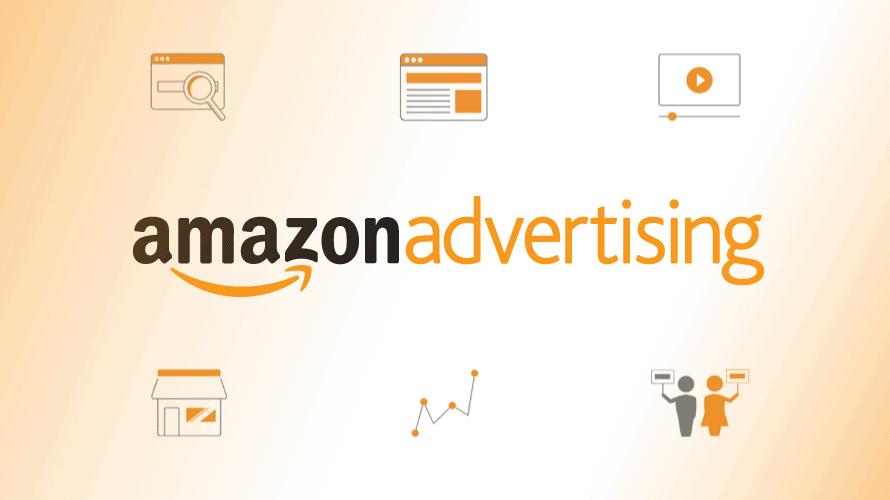 amazon advertising with six logos around it